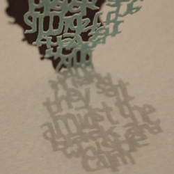Shadow Typography book design thumbnail